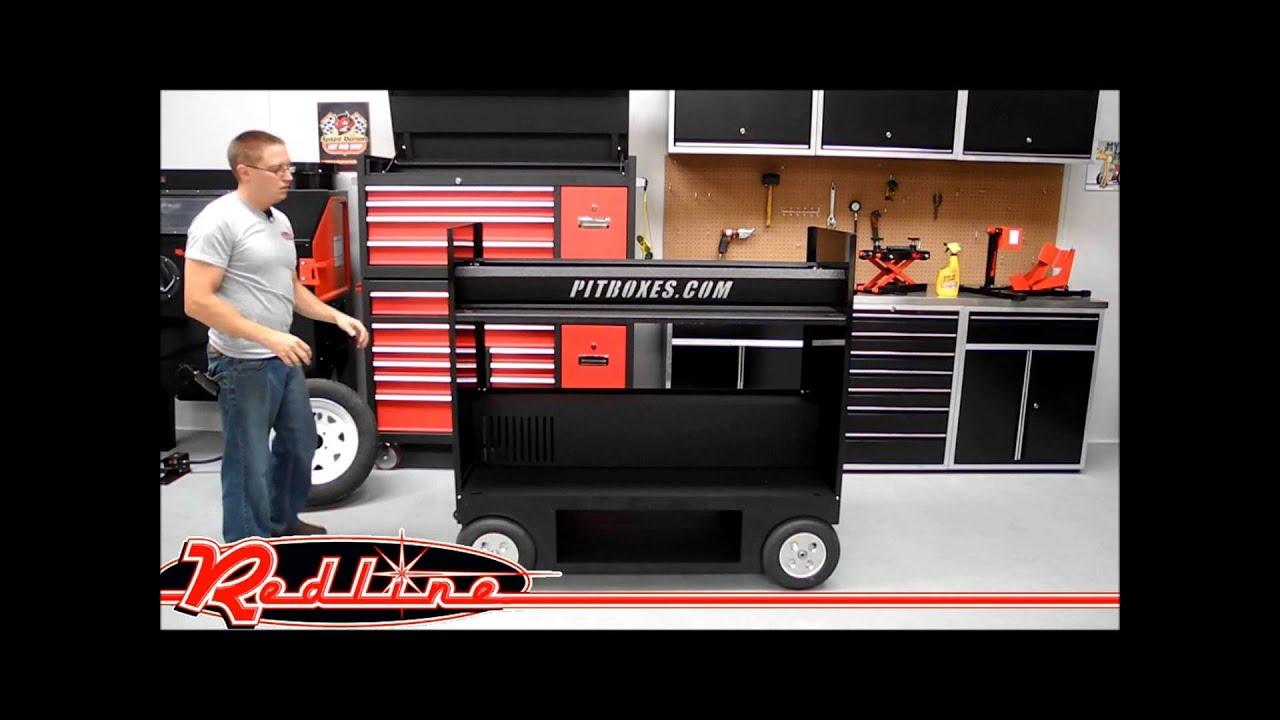 Ricky Sanders Racing Nascar Pit Box Tire Cart Youtube