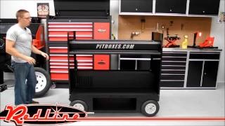 Ricky Sanders Racing Nascar Pit Box Tire Cart