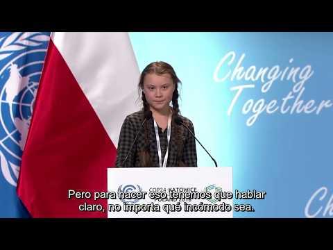 Greta Thunberg COP24 (subtítulos español)