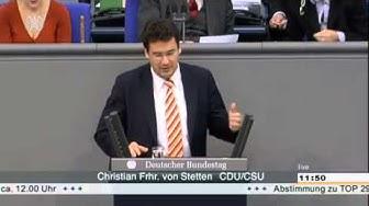 Bundestagsrede Christian von Stetten zur Steuerpolitik. Jetzt Mafiakontakt-Affaire.