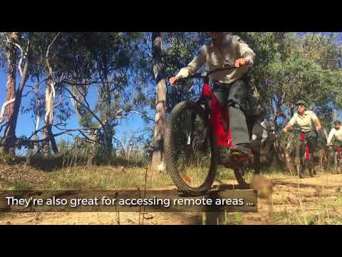 New e-bikes for Parks and Conservation Service save energy