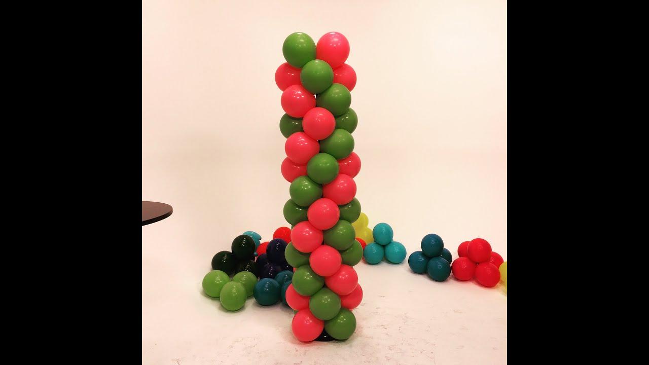 balloon tower zigzag pattern diy tutorial youtube. Black Bedroom Furniture Sets. Home Design Ideas