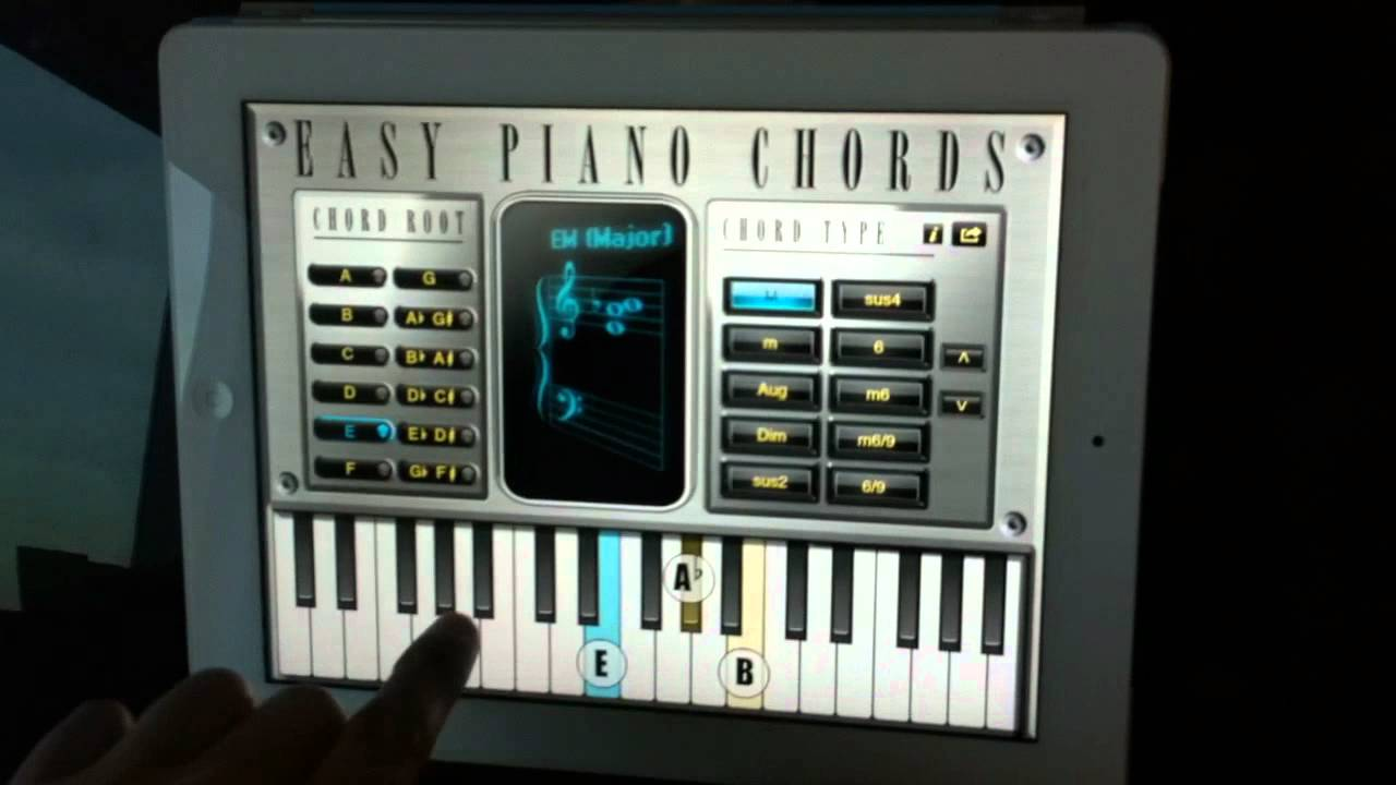 Easy piano chords app for ipad and android tablets youtube easy piano chords app for ipad and android tablets hexwebz Image collections