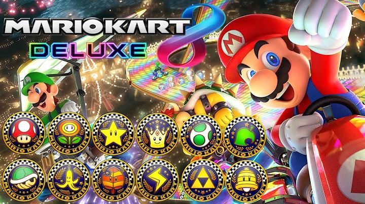 mario kart 8 deluxe  all tracks 200cc full race gameplay