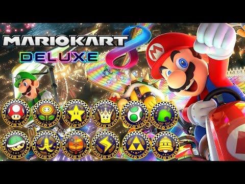 Mario Kart 8 Deluxe - All Tracks 200cc (Full Race Gameplay)