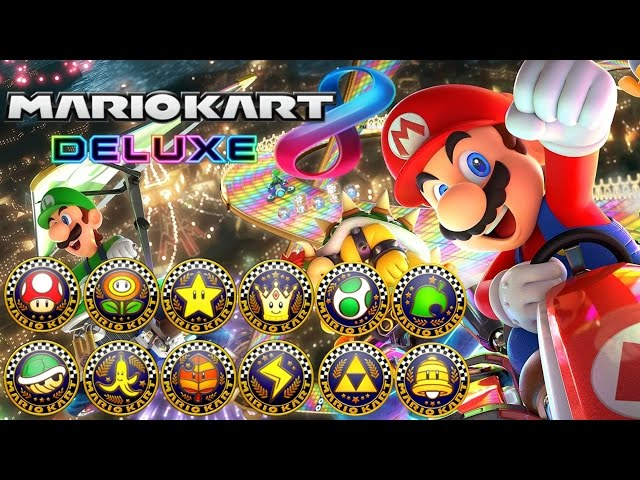 Mario Kart 8 Deluxe - All Tracks 200cc (Full Race Gameplay)