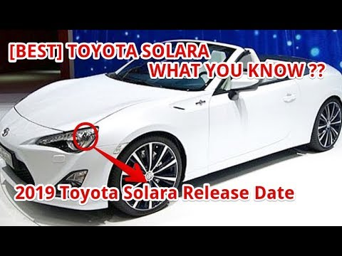 Best 2019 Toyota Solara Release Date