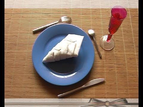 Plier serviette youtube - Plier serviette de table ...
