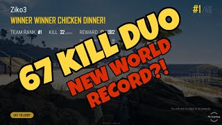 PUBG - EZ 67 KILL DUO!! FULLGAME