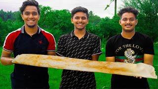 3 BIG DOSA CHALLENGE | Dosa Eating Challenge in Village | Food Challenge | Food4 People