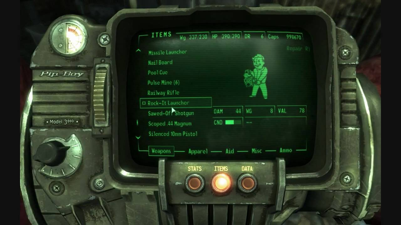 Fallout 3 Guide: Railway Rifle - YouTube