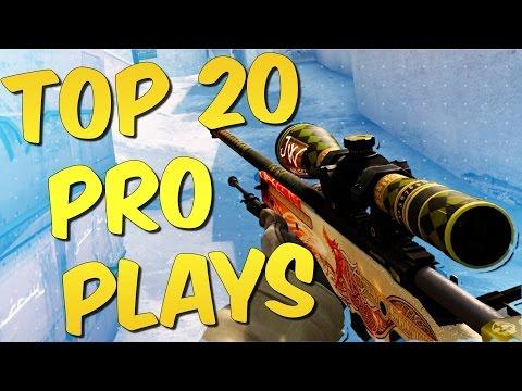 CSGO PRO MOMENTS! Top 20 CS:GO Pro Plays #1