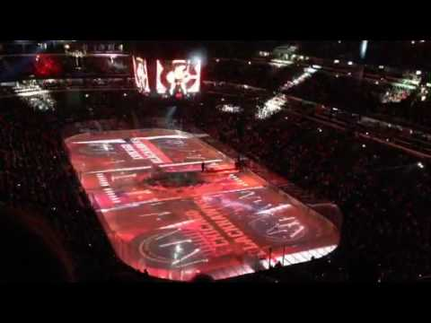 Chicago Blackhawks On Ice Projection 12/18/2016