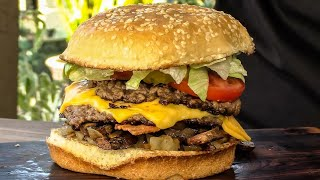 How To Make The Five Guys All-The-Way Bacon Cheeseburger! | Copycat