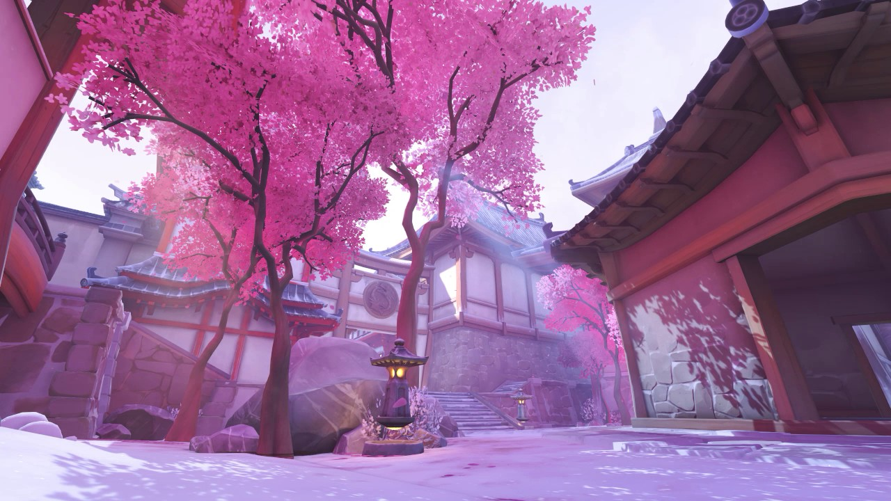 Animated Hd Wallpapers 1080p Free Download Overwatch Hanamura Under The Snow Animated Wallpaper