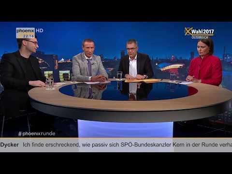 """phoenix Runde: """"Österreich wählt - Rechtsruck in Europa?"""" vom 12.10.17"""