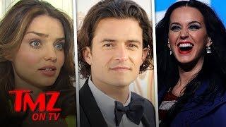 Katy Perry & Orlando Bloom Run Into Orlando's Ex | TMZ TV