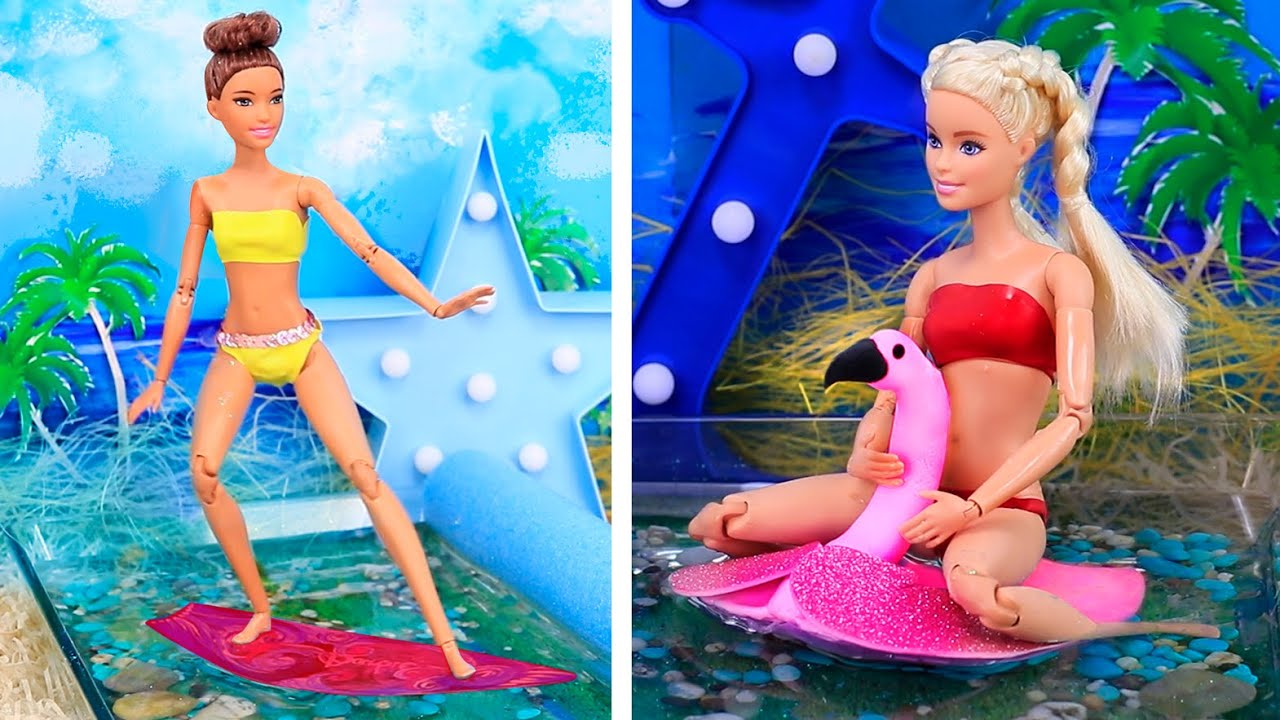 15 Trucos Para Barbie Ideas Para Las Vacaciones De Barbie Youtube