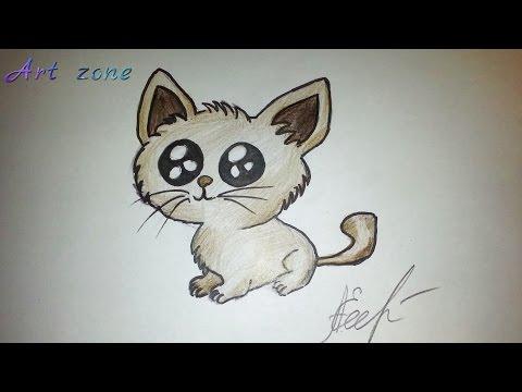 Как нарисовать Кота Саймона карандашом / маркером поэтапно