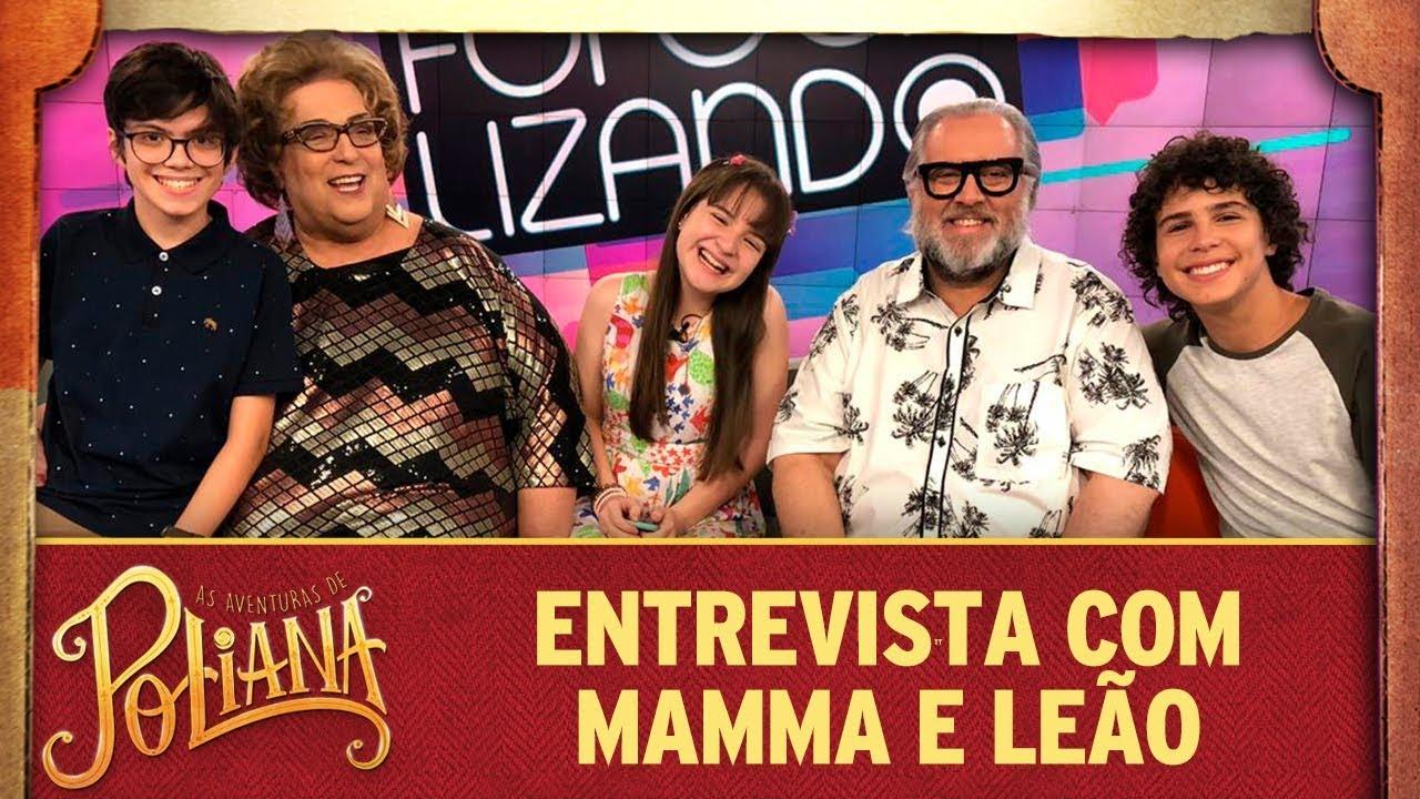 Poliana, Bento e João entrevistam Mamma e Leão | As Aventuras de Poliana