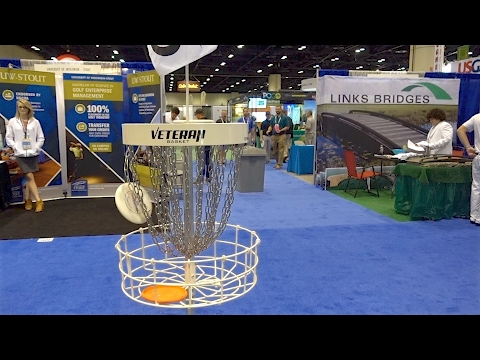 Disc Golf putting competition at the Golf Industry Show