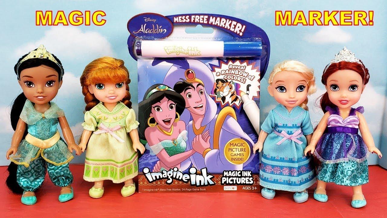 Frozen Elsa and Anna Color Aladdin imagineink Coloring Book