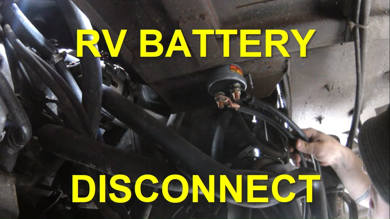 6 Volt Charging System Wiring Diagram Installing Battery Disconnect Switch In Rv Youtube
