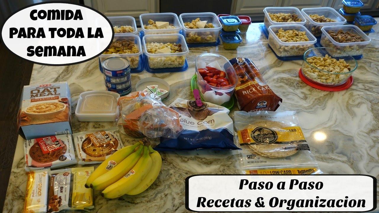 Como organizarte para comer sano toda la semana ep 9 for Cocina 1 dia para toda la semana