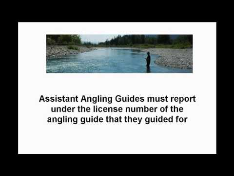 Submitting Your Angling Guide Report