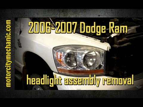 2006 2007 Dodge Ram Right Front Headlamp Embly Removal