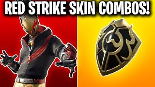 RED STRIKE STARTER PACK SKIN COMBOS! (FORTNITE STARTER PACK SEASON 10)