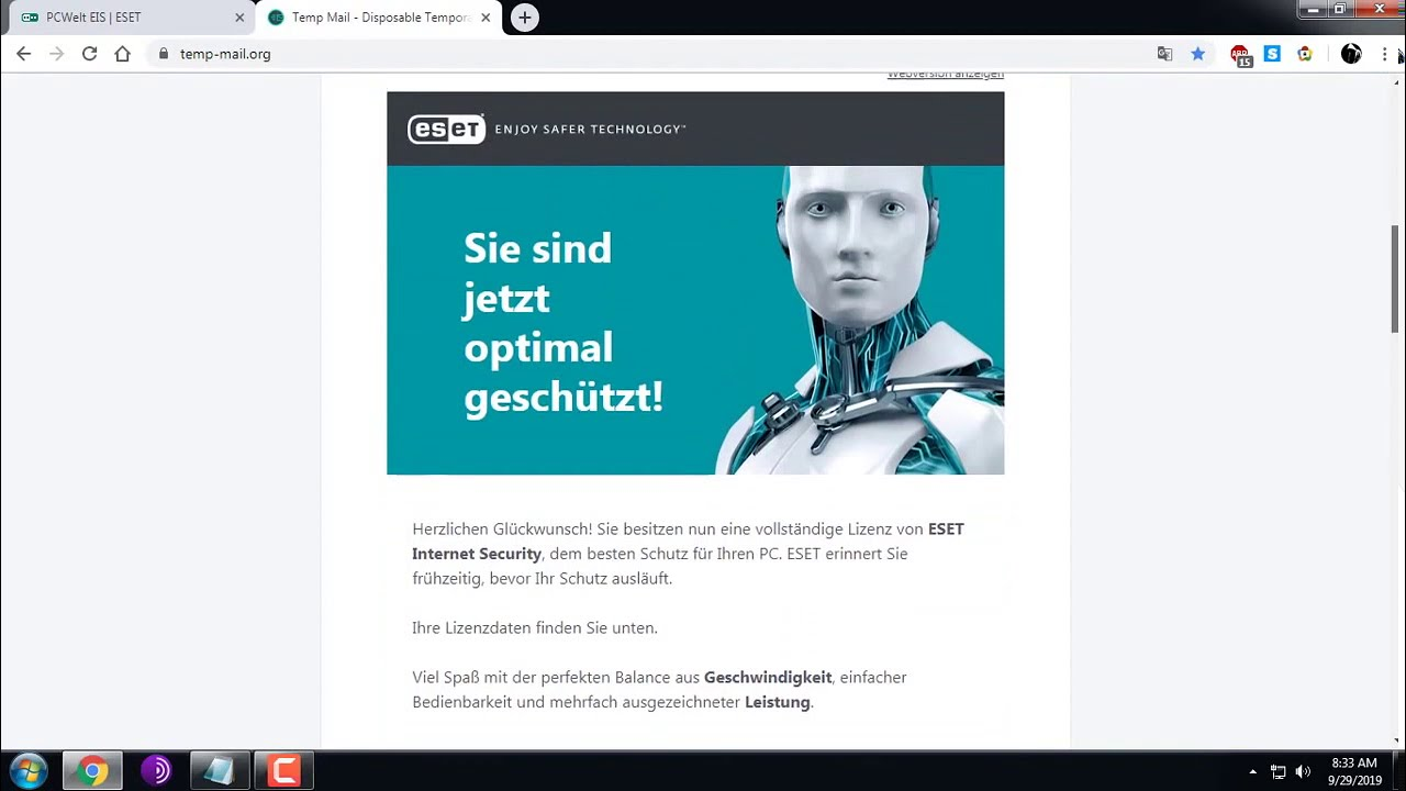 How to get key ESET Internet Security for 1 year | Auto-Renew