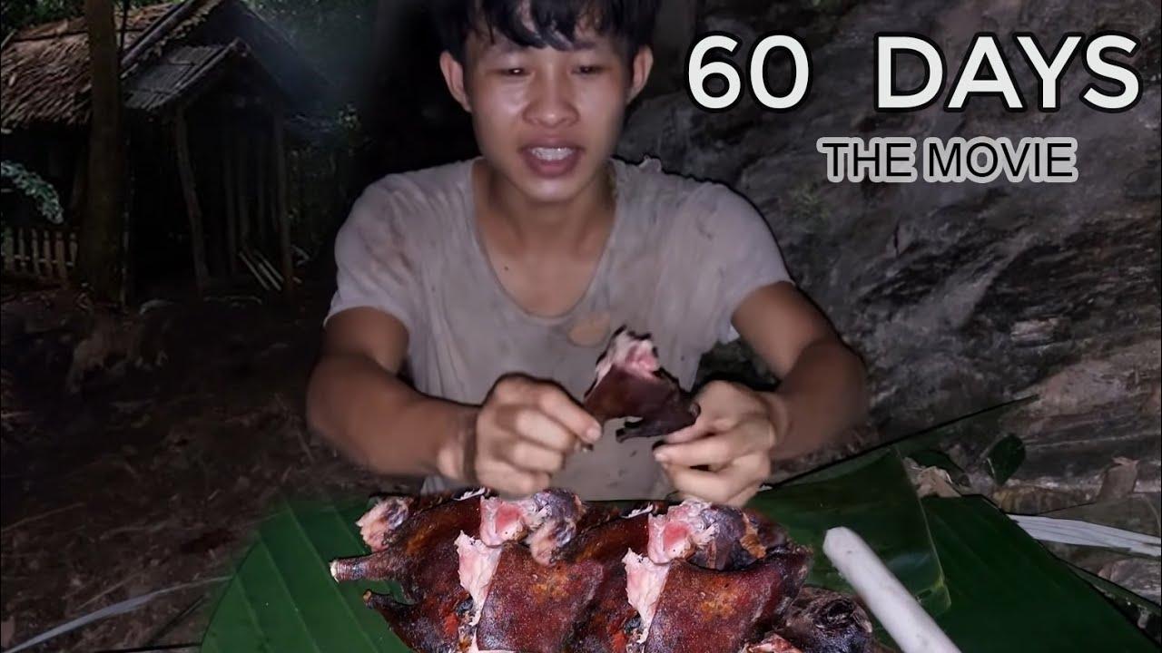 60 Day Survival Challenge In The Rainforest, survival instinct, Wilderness Alone