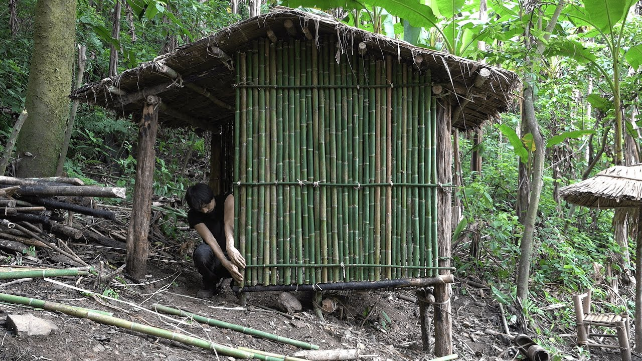Build a Simple and Quick Hut to Survive in the Rainforest