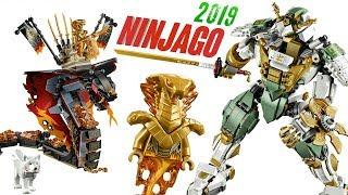 Лего Ниндзяго 2019 Замок Императора, Огненный клык и Титановый робот