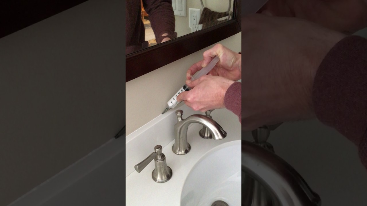 how to use the finish line caulk tool for caulking a backsplash how to use the finish line caulk tool for caulking a backsplash
