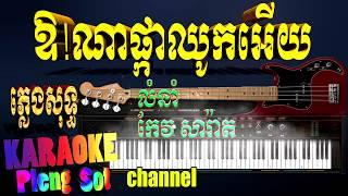 ឱណាផ្កាឈូកអើយ ភ្លេងសុទ្ធ | កែវសារ៉ាត - ov na pka chouk ery pleng sot .khmer karaoke