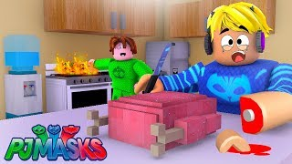 CAT BOY, CORUJITA and LAGARTIXO TURNED into THE WORST CHEFS OF TERROR in the ROBLOX KitchenChaos-PJ MASKS