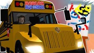 I'M A RECKLESS BUS DRIVER!! / Modern Masterpiece / Principal SPD   Roblox High School HIGHLIGHTS