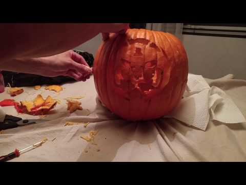 Space Dad Josh Keaton Carves Voltron Halloween Pumpkin