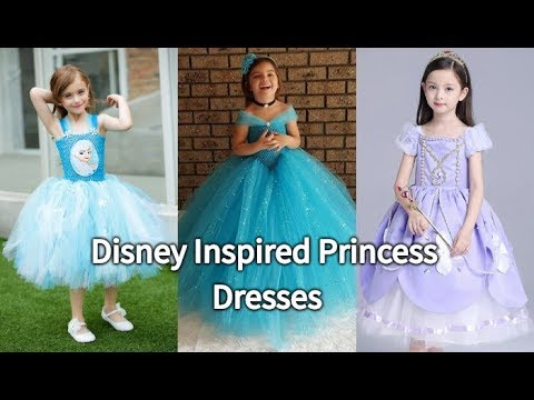 Beautiful Disney Inspired Princess Dresses Toddlers | Birthday Party Theme Costume, Princess Gowns