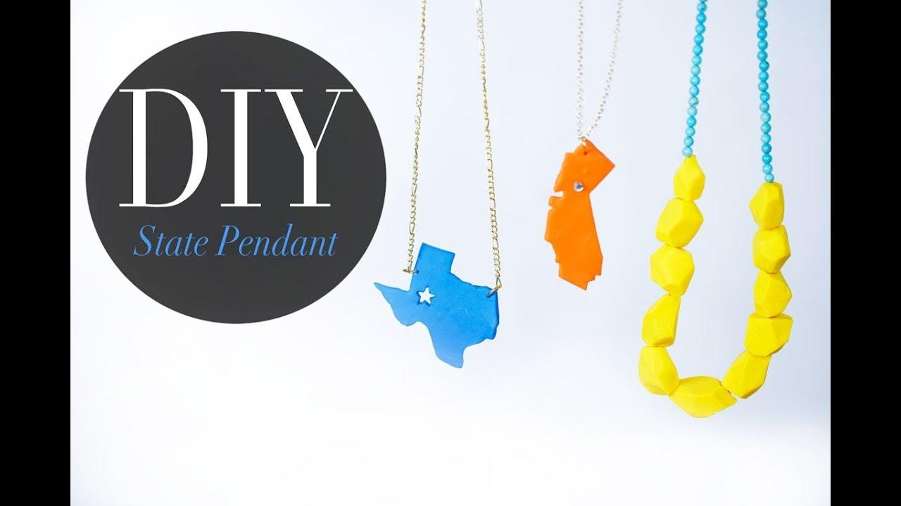Diy pop art polymer clay pendant necklace ann le youtube aloadofball Images