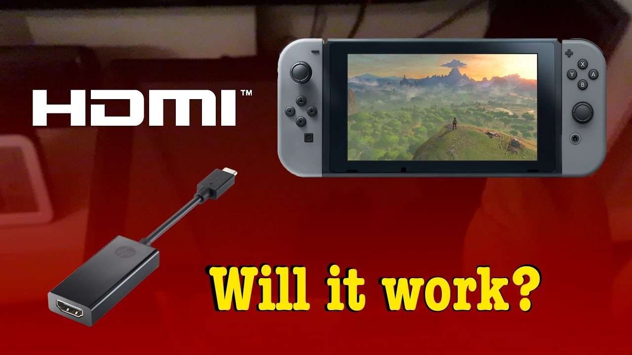 Will a USB-C HDMI adapter work on the go with the Nintendo Switch?