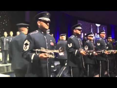 US Air Force Band surprise rendition of Air Force song