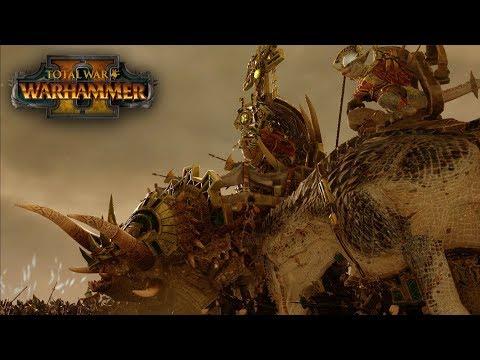 Total War: Warhammer 2 - Lizardmen vs Dark Elves (Mathghamhan) - Online Battle 04