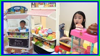 Ryan Pretend Play inspired Fun TV - PRETEND PLAY with SUPERMARKET SHOPPING -Thanks Ryan's Toy Review
