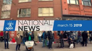 APTN National News March 15, 2019 – Concerns over day school settlement, overdose epidemic in B.C.