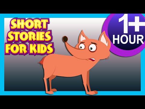 SHORT STORIES FOR KIDS ONE HOUR +  THE FOX WITHOUT TAIL & MORE  20+ MORAL STORIES FOR KIDS