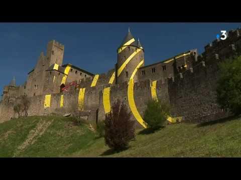 Cité de Carcassonne : l'oeuvre de Varini ne fait pas l'unanimité