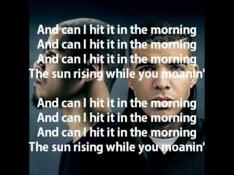 In The Morning - J.Cole (feat Drake) with lyrics on screen